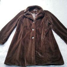 CAbi Plush Faux Fur Coat Xlarge XL Brown 334