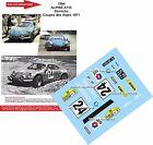 Decals 1/43 réf 1094 Renault ALPINE A110 Darniche Coupes des Alpes 1971