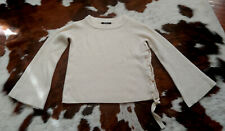 NWOT Saks Fifth Avenue 100% Cashmere Oversize Body Tie Up Sweater Sz S THE ROW