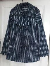Ladies Women New Look Polka Dot Jacket Size 12