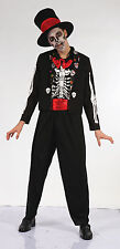 Day of the Dead Bone Fancy Dress Outfit Costume M-L