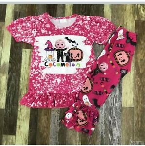 New Boutique Girls size 2T Halloween Cocomelon shirt/pant outfit