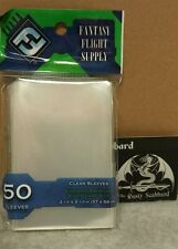 57mm x 89mm Standard American Board Game CLEAR card Sleeves Green Pk FFG FFS03