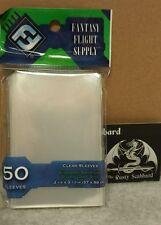 57mm x 89mm Standard American Board Game CLEAR card Sleeves Green Pk FFG FFS03