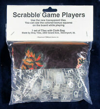 Clear Scrabble Tiles with Pouch  by Dray Tiles  Unopened, Mint condition  OOP