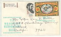 US 1972 EFO SCARCE 50c Jackass Mail Stamp on Cover  Used