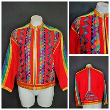 VTG Girasol Jacket Embroidery Mexican Ribbon Lined 1960s Embroidered Blazer