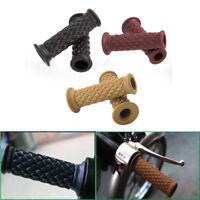 """2 Pcs 7/8"""" Handlebar Motorcycle Hand Grip Bar End For Harle Bike BMW Cafe Racer"""