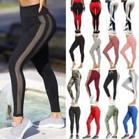 Women High Waist Yoga Leggings Push Up Fitness Sport Gym Workout Athletic Pants