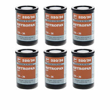 6 Rolls Retropan Soft 320 36 exp Black and White Camera Film 135-36 35m by FOMA