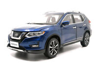 1/18 1:18 Scale Nissan Rogue X-trail 2019 Blue Diecast Model Car Toy Men's Gift