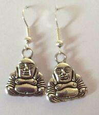 Tibetan Silver Buddha Dangle Earrings Silver Plated ganci presenti