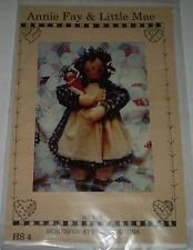 "'ANNIE FAY & LITTLE MAY"" CLOTH DOLL PATTERN ""HOMESPUN AT HEART DESIGNS 20 "" TALL"