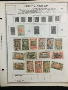 TCStamps LOOK!  WOW! 12X Pages OLD Ethiopia  Postage Stamps #610