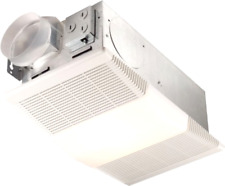 White Exhaust Fan with Heater & Light Ceiling Ventilation Home Office Bathroom