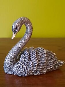 Country Artists Sterling Silver Swan with Gold Plated Beak Fully Hallmarked