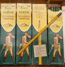 Vintage Dixon Ticonderoga Ethan Allen 1388 No 2 Pencils 2 Full Boxes 2 Not Full