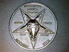 "Lucifer / Morning Star / Satan / Pentecostal  - Misty Silver 3D Coin   1 1/2"""
