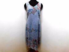 Lavender Dragon Print Maxi Dress Citron Santa Monica Lagenlook Linen Luxe Chic S