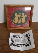 Rhonda Hinsdale German Scherenschnitte A Christmas Carol Tiny Tim SIGNED Framed