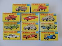 Matchbox Lesney and Superfast / Lot 11 Empty Repro Box  style F