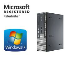 DELL Windows 7 Pro 64 Fast Super Slim Desktop Computer PC 8GB RAM WiFi DVD-RW