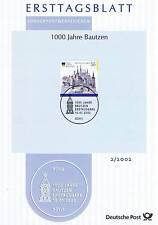 BRD 2002: Bautzen 1000 Jahre! Ersttagsblatt der Nr. 2232 mit Bonner Stempel! 1A