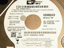500 gb de Western Digital WD 5000 AACS - 00zub0/hhrnht 2mbb/2060-701444-004 Rev