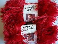 Premier Lash Lux Sequins eyelash yarn, Fire (red), lot of 2 (34 yds each)