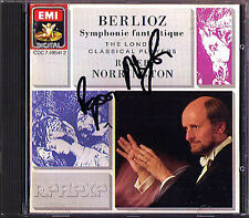 Sir Roger NORRINGTON Signiert BERLIOZ Symphonie Fantastique CD EMI UK 1989