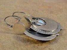 Beautiful Mexican Mexico Sterling Silver Oaxacan Hoop Earrings