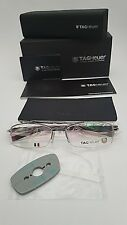 TAG HEUER FRAMES GLASSES IN RED BLACK SILVER 8210 005 BRAND NEW & UNDER £75 !