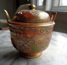 Antique Small Satsuma Incense Burner - Marked