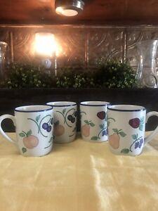 Princess House Orchard Medley Mugs