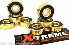 *8 Pack ABEC 9 GOLD XTREME HIGH PERFORMANCE BEARINGS SKATEBOARD SCOOTER  STICKER