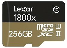 256gb lexar 1800x microsdxc Micro SD SDXC TF Memory Card uhs-3 class 10
