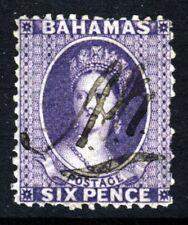 BAHAMAS Queen Victoria 1863 6d. Deep Violet Wmk Crown CC P12½  SG 31 VFU