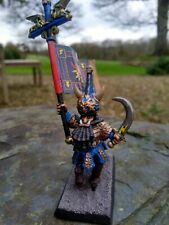 Warhammer Chaos Dwarf Bull Centaur Standard Bearer Rare Metal Painted Oop