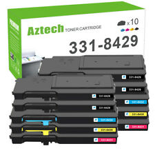 10PK Color Toner Compatible for Dell 331-8429 Laser C3760dn C3760dnf C3765dnf