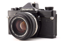 [Exc+5] OLYMPUS OM-1 Black SLR Camera w/ Zuiko Auto-S 50mm F1.8 Lens from JAPAN