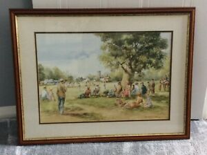 Sunday Cricket  - Framed Print  - By The Artist Douglas E West