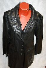 "JOANNA BLACK PVC ""SNAKESKIN PATTERN"" COAT, MID-LENGTH, LADIES LG., RETRO '90'S!"