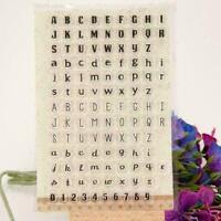 Transparentes klares Siegel-Stempel DIY des englischen D0O0 Brief-Silikon-S V1X5