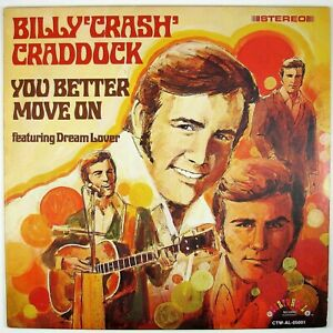 "BILLY ""CRASH"" CRADDOCK You Better Move On LP 1972 COUNTRY ROCK NM- NM-"