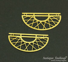 Exclusive 4pcs Raw Brass Geometry Pendant For Necklace Earring TG097