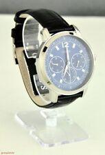 Nuevo Elegante Reloj 100% Original Guess Cuero Negro Dial Azul Nuevo Para hombres U0790G2