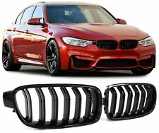 GLOSS BLACK DUAL SLAT GRILLS GRILLES GRILL FOR BMW F30 & F31 3 SERIES NICE GIFT