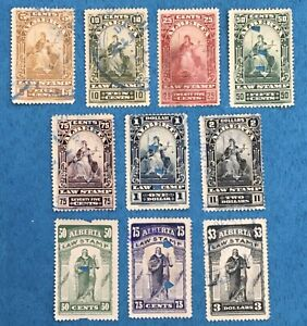 Lot65 Alberta Law Stamps Minor Faults or Stains All Different