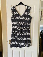 H&M Damas Vestido Talla XL 18-20 próxima P&P halagador Negro Blanco