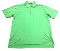 Peter Millar Summer Comfort Mens Green Short Sleeve Polo Shirt Size Large